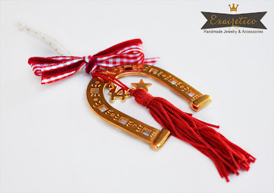 Χειροποίητο γούρι 2014-Exairetico-Μεταλλικό πέταλο αλόγου