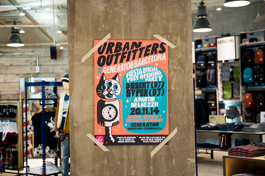 the petticoat urban outfitters generator hostels barcelona opening