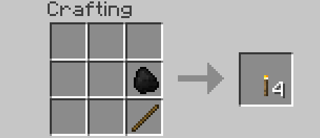 making a torch in minecraft