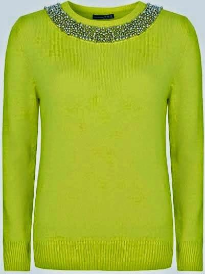 La pedreria y el color verde son una excelente combianción para un jersey