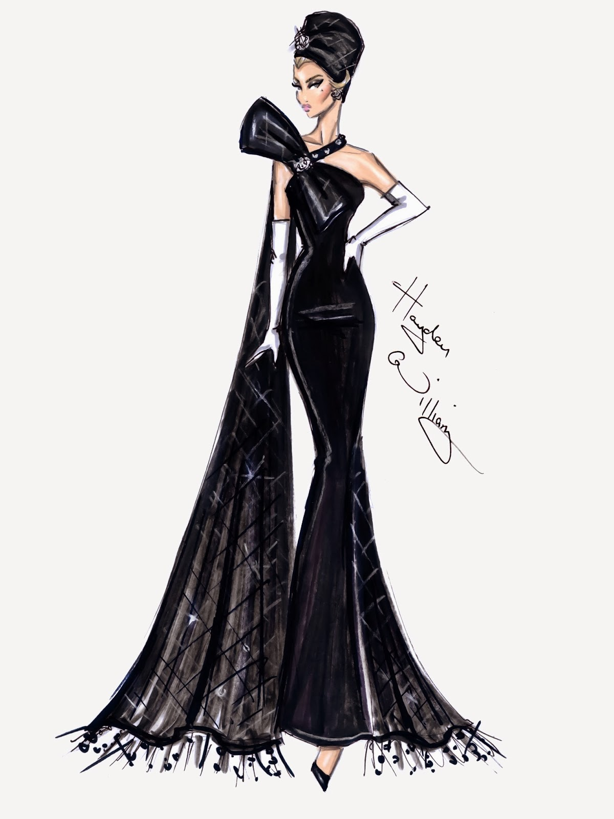 Hayden williams fashion illustrations january 2014 for Hot couture fashion