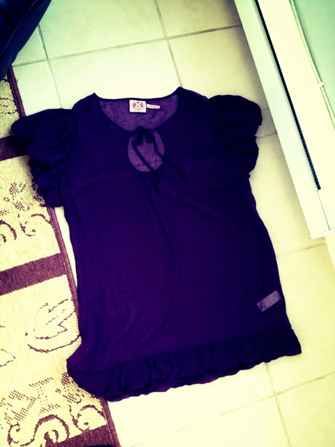 juicy couture purple sheer top