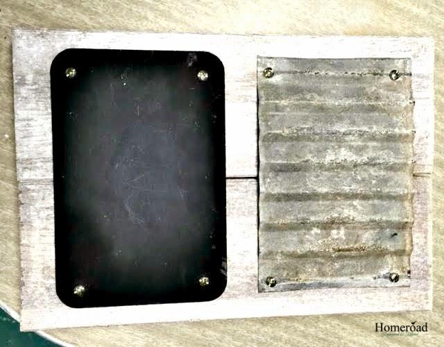 A corrugated metal challenge turned memo board www.homeroad.net