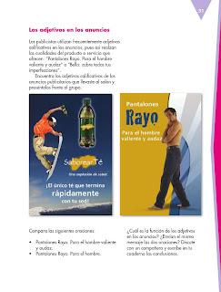 Apoyo Primaria Español 5to grado Bloque I lección 3 Elaborar y publicar anuncios publicitarios de productos o servicios que se ofrecen en su comunidad