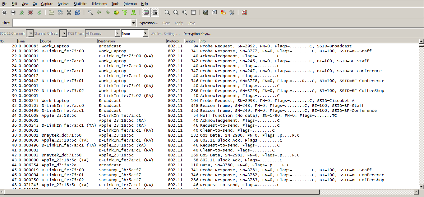 WifiNigel: WLAN Packet Capture - Frame Colorization in Wireshark
