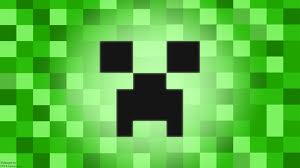 Canny image with minecraft printable creeper