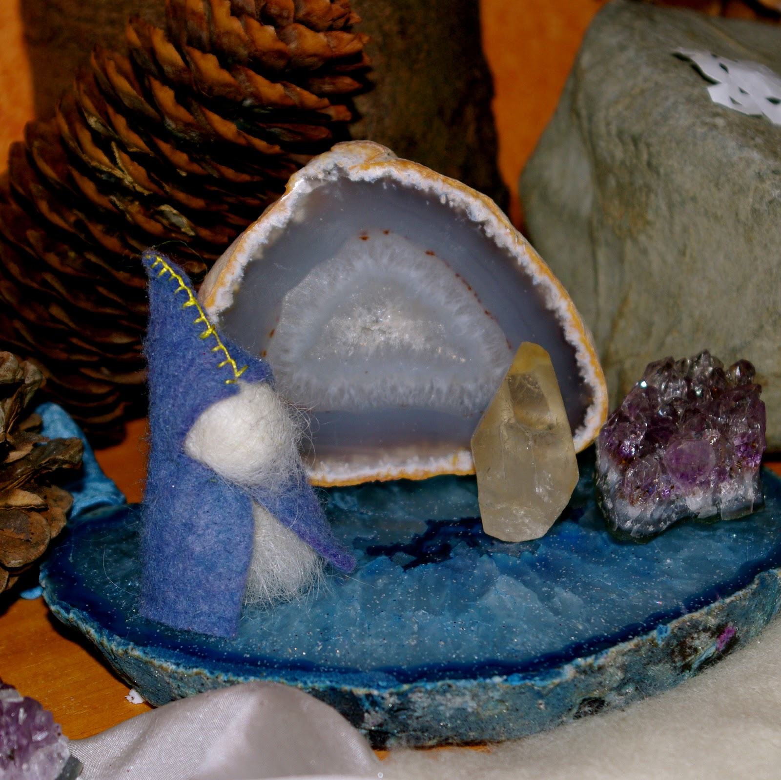 Winter nature table - Our Winter Nature Table
