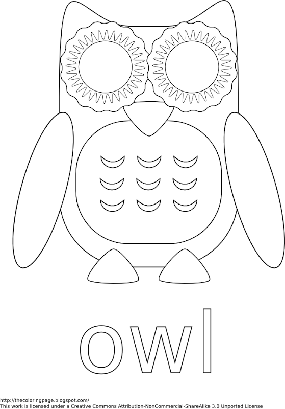 Cute Owl Coloring Page - Printer Friendly title=