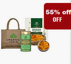 Organic India products upto 10% off + upto 55% off from Rs. 32