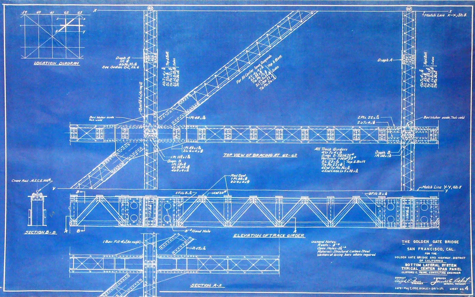 Arader galleries blueprints of a landmark for Where to print blueprints