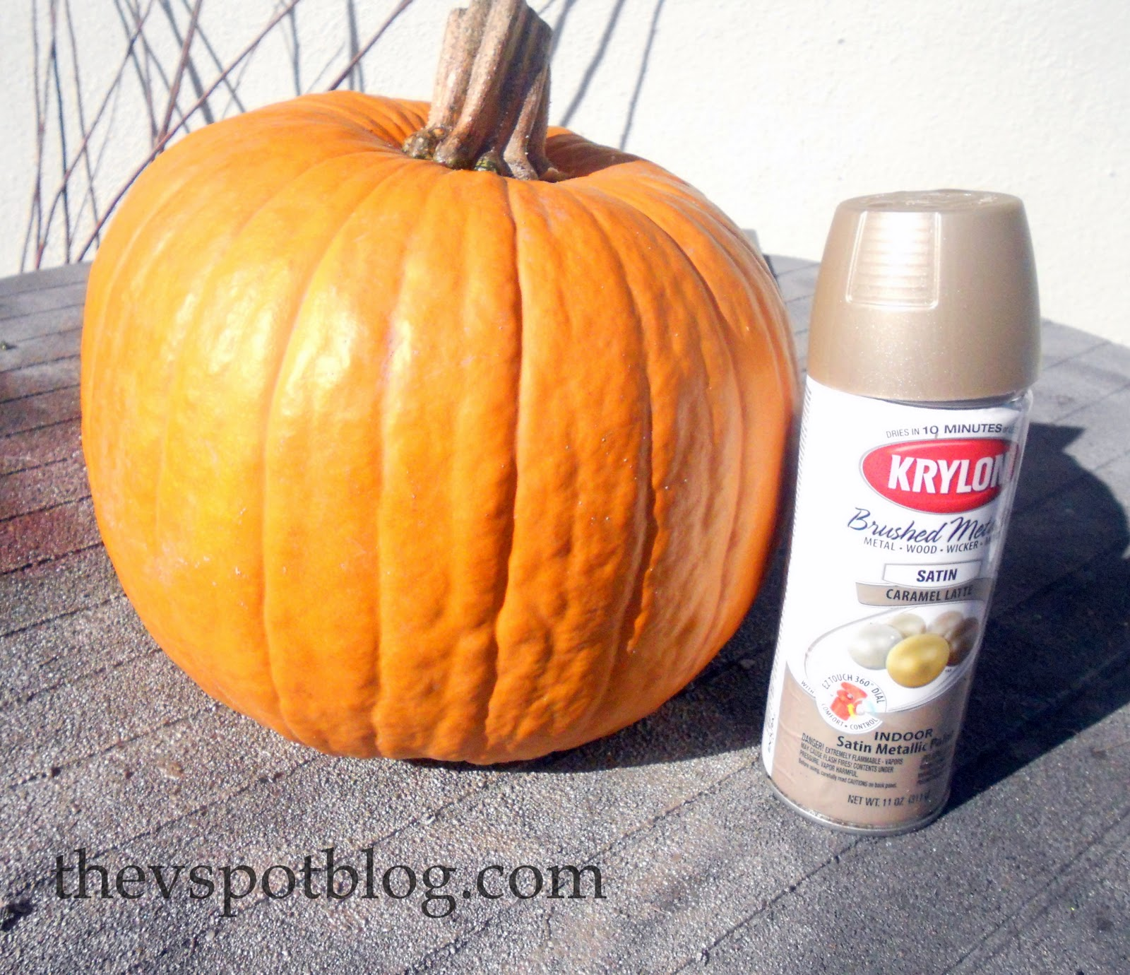 Spray Painted Metallic Pumpkins Take Halloween Pumpkins