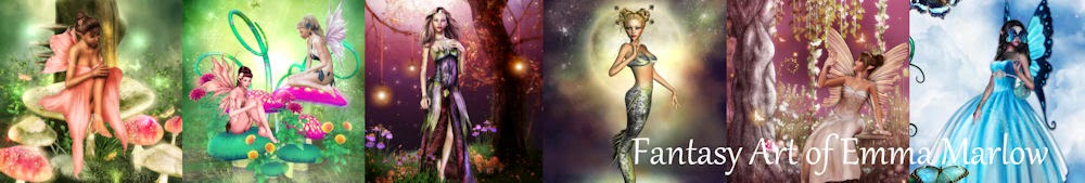 Fairies and Fantasy Art by Emma Marlow