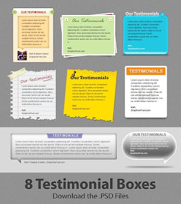 PSD Testimonial Boxes