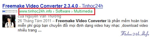 breadcrumb for blogger trên google