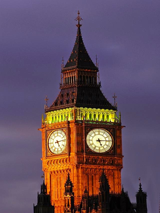big ben clock closeup