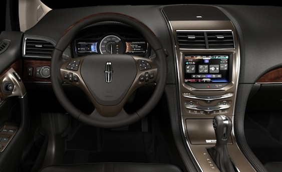 Interior shot of 2011 Lincoln MKX
