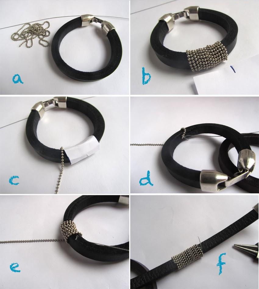 Elcuadernodeideas pulseras en negro y plateado - Pegar cristal y metal ...