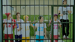 TEEN TOP Miss Right colorful prison outfits