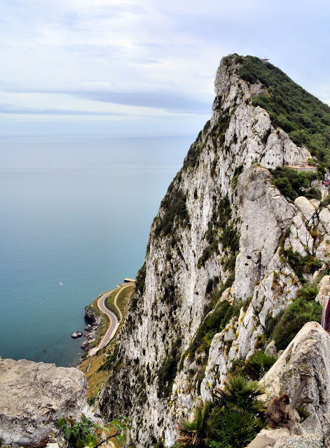 Jaw-dropping views like these are found around bend in the road as you ascend to the top of the Rock of Gibraltar.