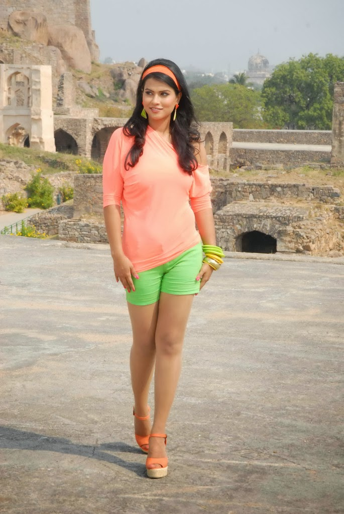 Sharmila Mandre Latest Gallery In Green Shorts