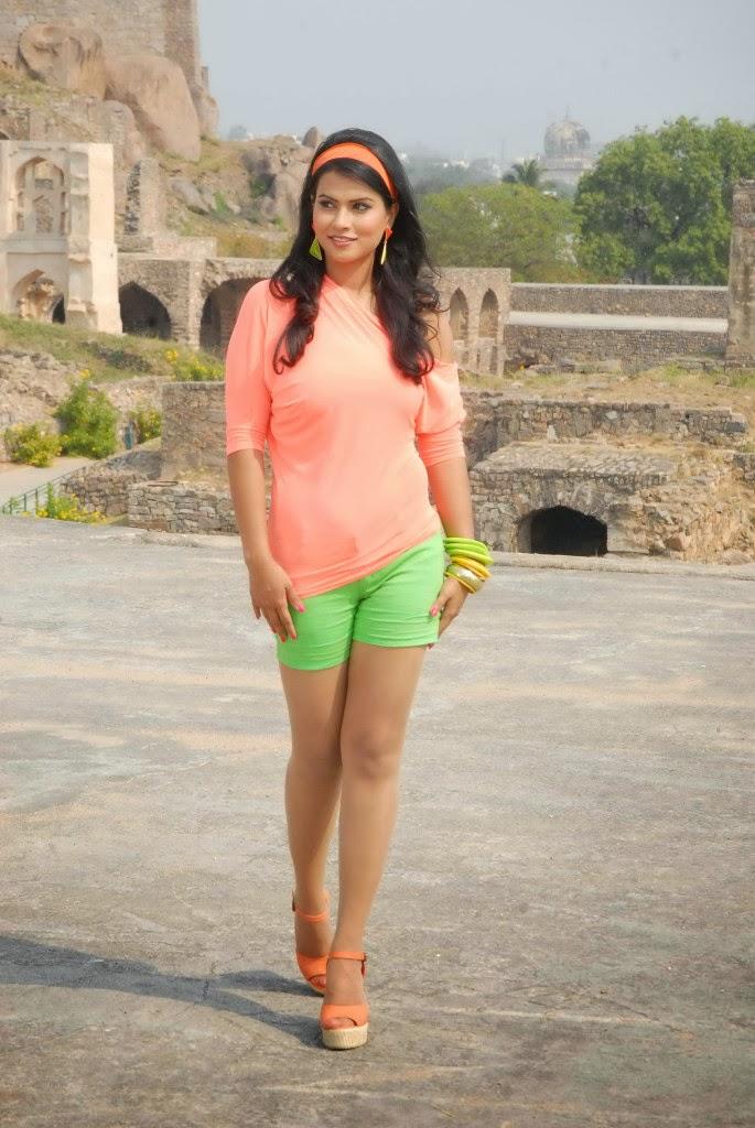 Sharmila Mandre Latest Gallery In Green Shorts