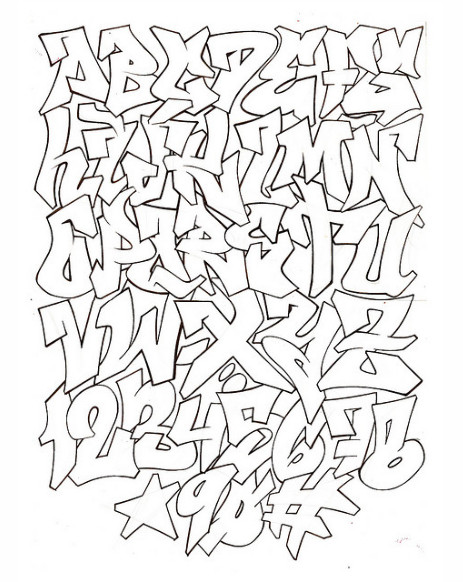Abecedario graffiti 3D letra por letra - Imagui