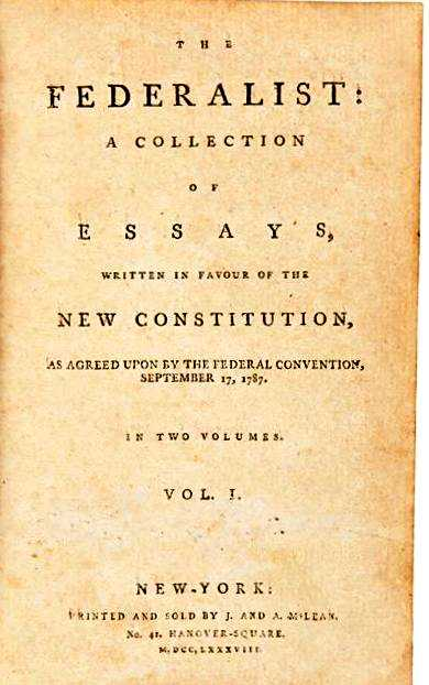 federalist essay 1 The federalist 1 general introduction  hamilton for the independent journal to the people of the state of new york: after an unequivocal experience of the inefficiency of the subsisting federal government, you are called upon to deliberate on a new constitution for the united states of america.