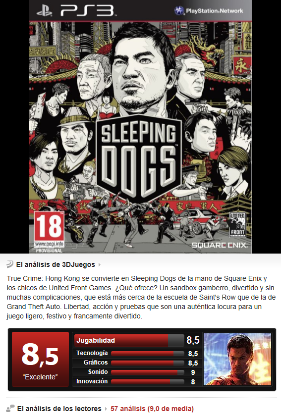 Sleeping Dogs [PS3][3.55][Esp]