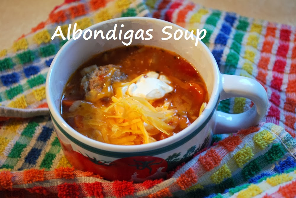 ... month-long series of soups. This week's recipe is for albondigas soup