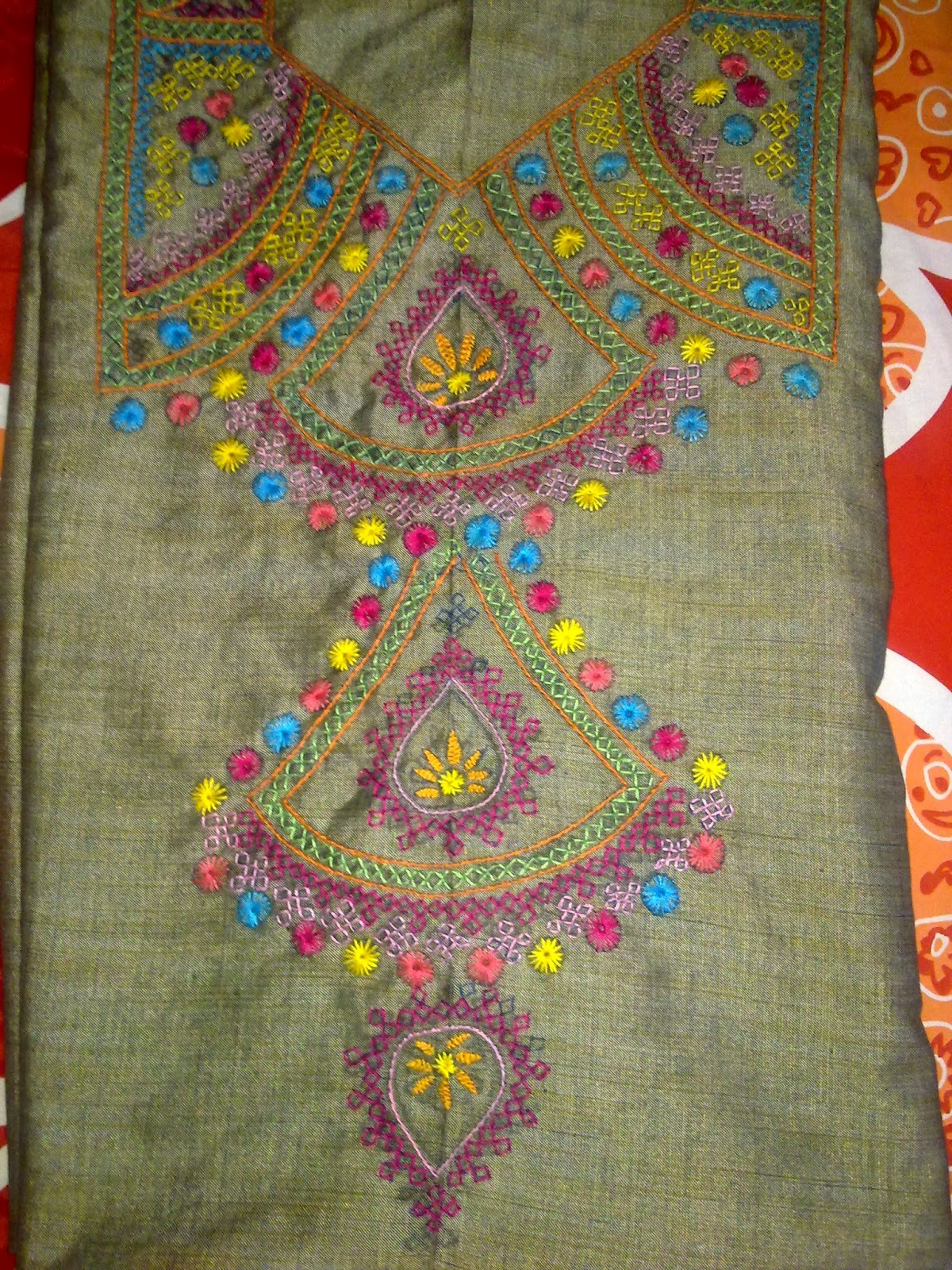 Arttycraft by indu hand embroidered dress
