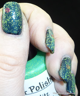 Pretty and Polished Bayou Blitz over Kleancolor Retro Green