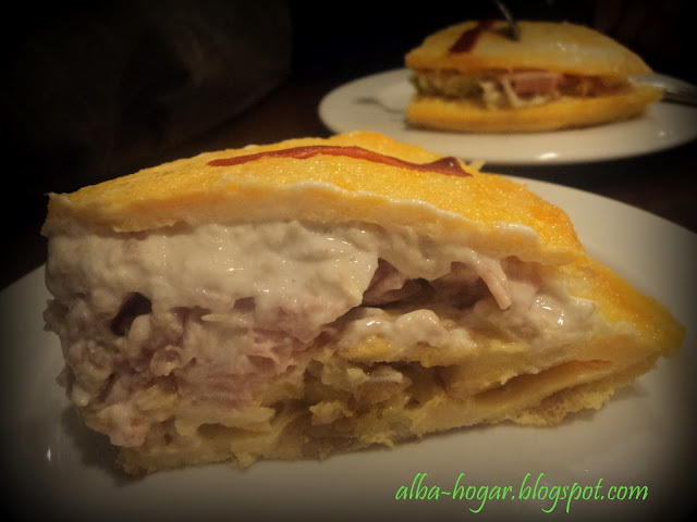 tortilla rellena de jamón y atún alba hogar