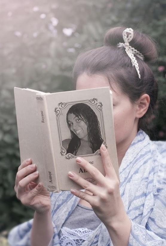 montagem foto na capa do livro