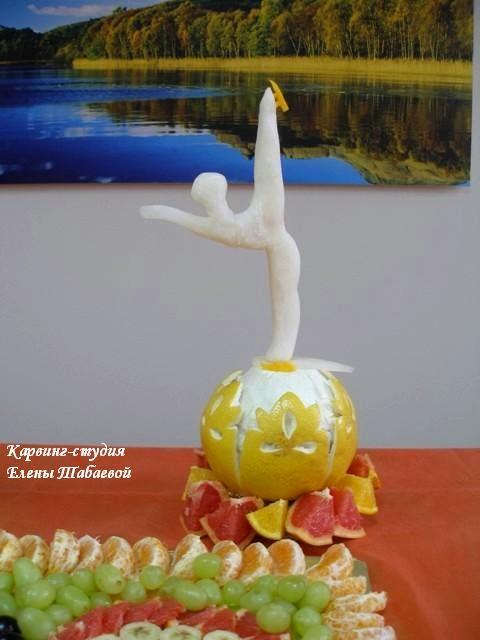 скульптура из овощей спорт