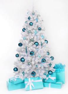Pohon natal, Desain pohon natal, gambar pohon natal, pohon natal putih, pohon natal biru dan putih
