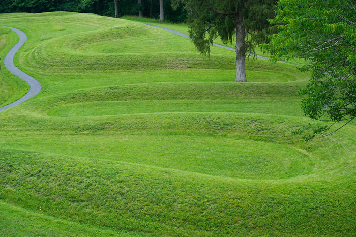 Red and the peanut the bluebird sentinels of serpent mound for Mounding grass