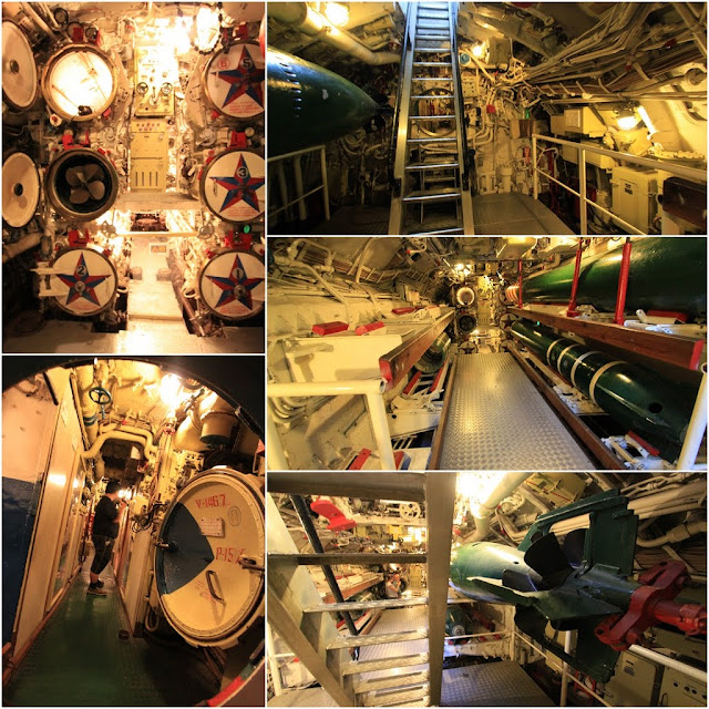 More torpedo tubes can be seen in this room in the Russian Scorpion Submarine at Long Beach, Los Angeles, California, USA