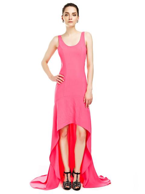 pembe elbise, önü kısa elbise, gece elbisesi, yazlık elbise, uzun elbise,