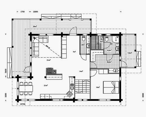 Planos de casas gratis plano casa dos pisos de 175 m2 for Planos de pisos grandes