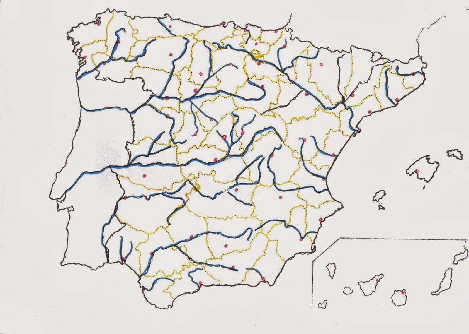 Mapa Rios Espaa Mudo