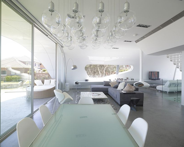 Sun Filled Interior And The Exterior, Is A Fluid Concept Open Plan With A  Contemporary Palette And Minimalist Interior Concrete Floors And Futuristic  ...