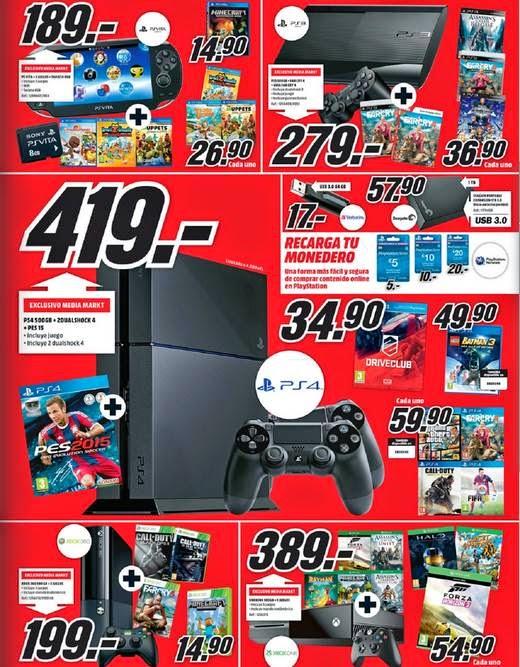 Consolas y Videojuegos Media Markt 1-2015