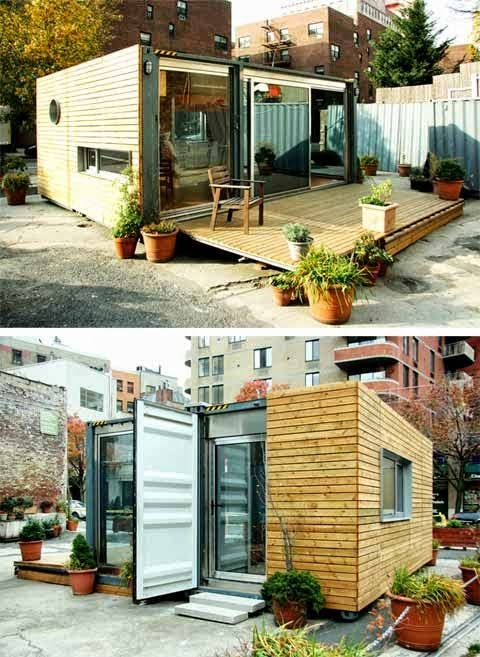home from shipping container