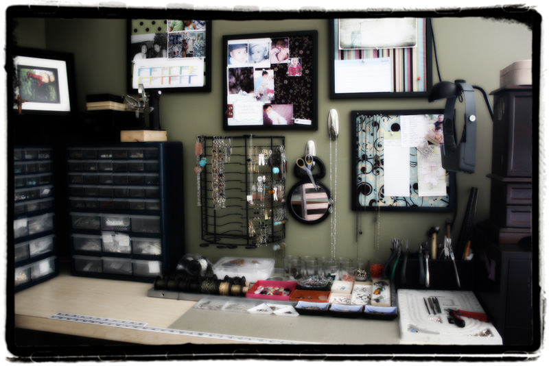 eNVe Designs: In the Studio :: a look at my work space