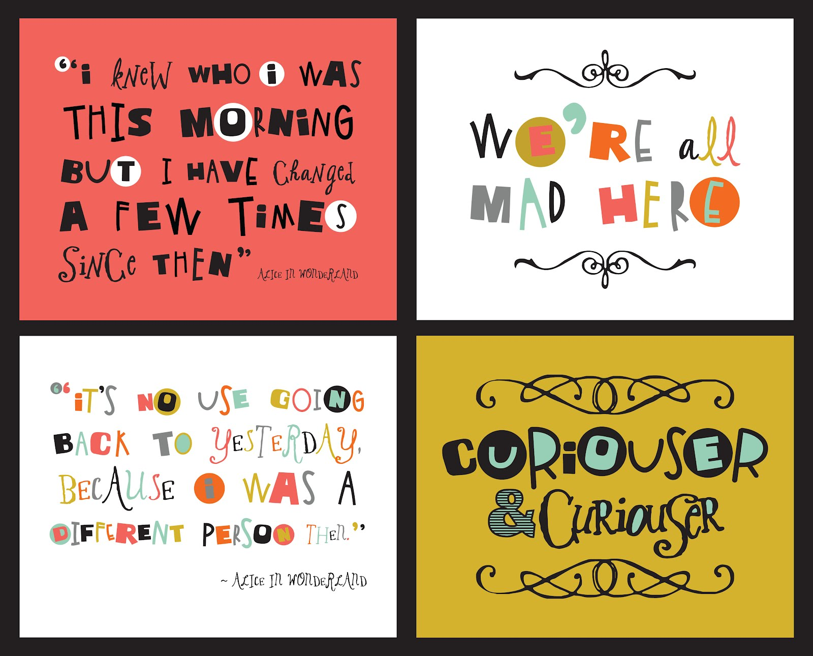Quotes From Alice In Wonderland Fontaholic Freebie Friday Alice In Wonderland Quotes
