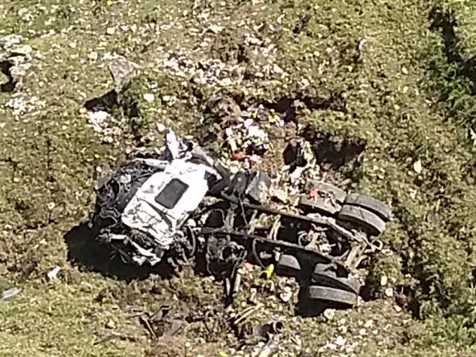 Accidentado vehículo recolector de basura en la vía Málaga – Curos