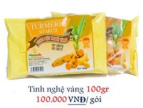 Tinh nghệ vàng túi 100gr giá 100,000 vnđ