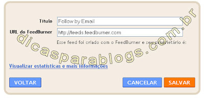 enviar atualização do blog por email