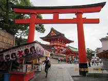 Entry, Large Torii Gate, Fushimi-Inari Shrine, Kyoto, Japan