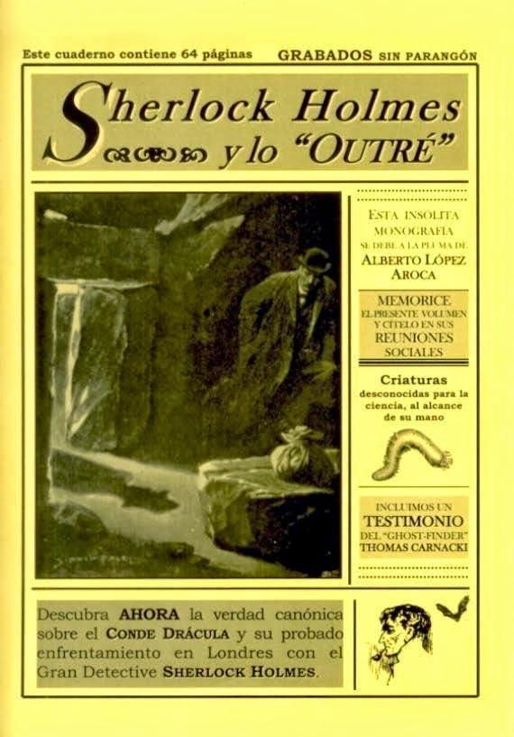 """""""SHERLOCK HOLMES Y LO OUTRÉ"""", 7 euros"""